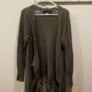 Olive cardigan from Francesca's boutique